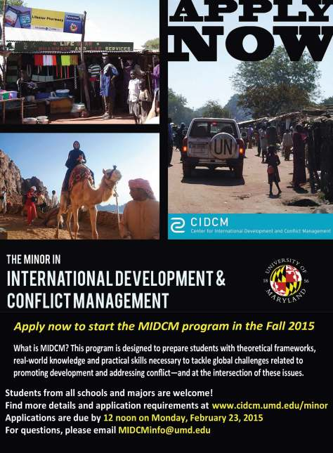 Apply now - MIDCM 2015